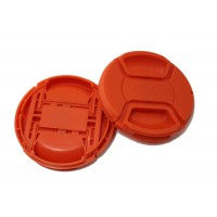 Colourful Fire Truck Red Orange Center Pinch Lens cap  62mm