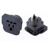 Safety SDoC approved Travel Power Plug NZ Adaptor - BLACK