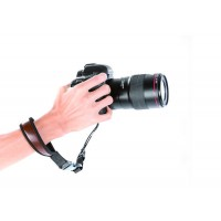 Quality leather camera safety wrist strap