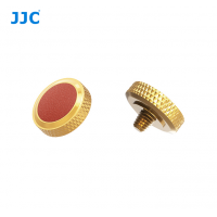 JJC Deluxe Soft Release Button Gold Brown