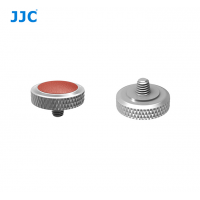 JJC Deluxe Soft Release Button Brown Silver