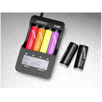 VariCore V40 battery charger 18650 charger for 21700 26650 AA AAA 18350 18500