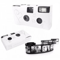 High Quality Disposable Wedding camera silver heart design - Fuji Film!!