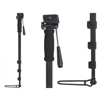 Quality lightweight monopod with footstand